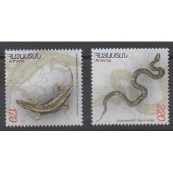 Arménie - 2002 - No 423/424 - Reptiles