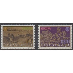Yougoslavie - 1979 - No 1663/1664 - Service postal - Europa
