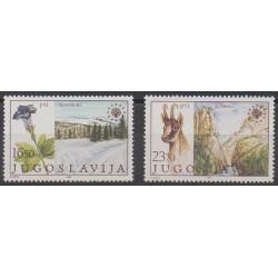 Yougoslavie - 1983 - No 1883/1884 - Environnement