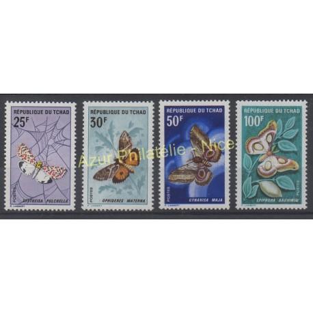 Tchad - 1968 - No 157/160 - Papillons