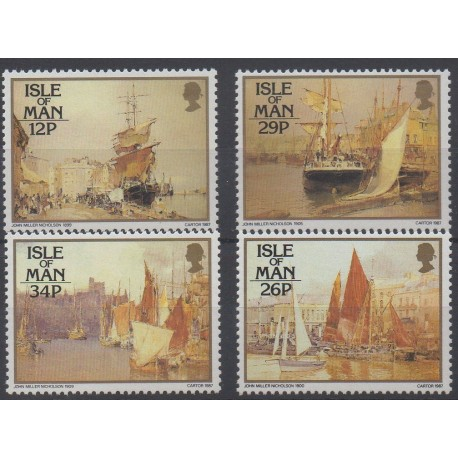 Stamps - Theme boats - Man (Isle of) - 1987 - Nb 326/329