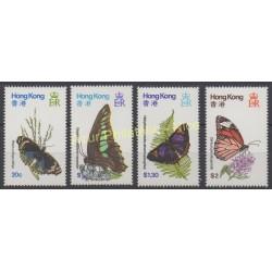 Hong-Kong - 1979 - No 347/350 - Papillons