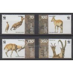 Arménie - 1996 - No 261/264 - Mammifères - Espèces menacées - WWF