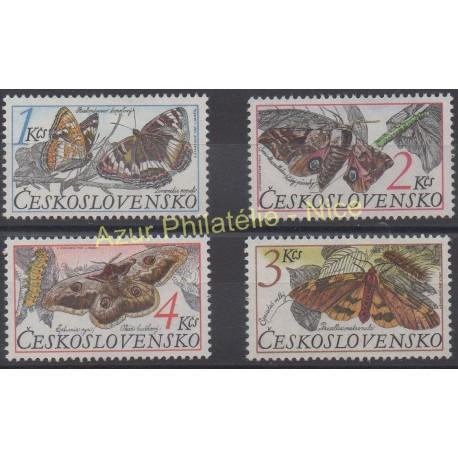 Czechoslovakia - 1987 - Nb 2714/2717 - Butterflies