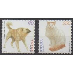 Armenia - 1999 - Nb 319/320 - Dogs - Cats