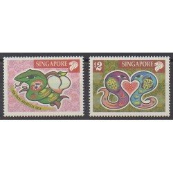 Singapour - 2001 - No 982/983 - Horoscope