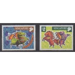 Singapore - 2001 - Nb 1032/1033 - Horoscope