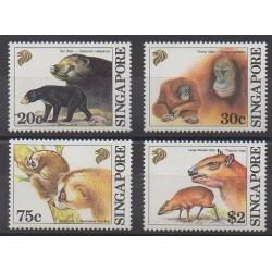 Singapour - 1993 - No 655/658 - Mammifères
