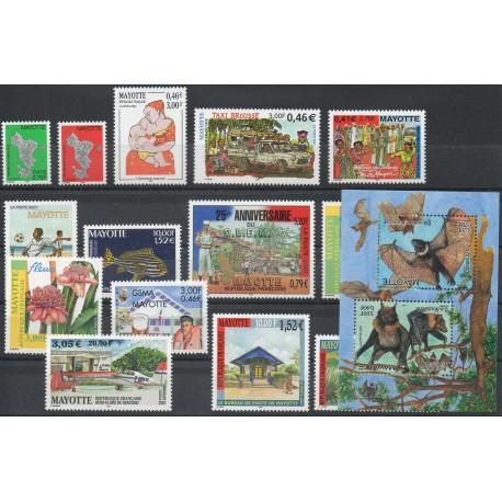 Mayotte - Année complète - 2001 - No 96/110 et PA5 et BF5