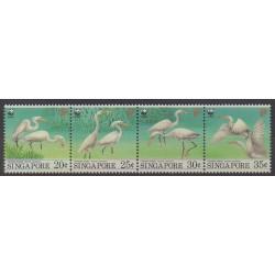 Singapour - 1993 - No 684/687 - Oiseaux - Espèces menacées - WWF