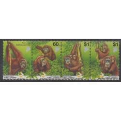 Singapour - 2001 - No 1013/1016 - Mammifères - Espèces menacées - WWF