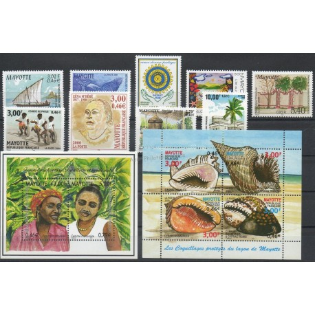 Mayotte - Complete year - 2000 - Nb 81/95 et BF3/BF4