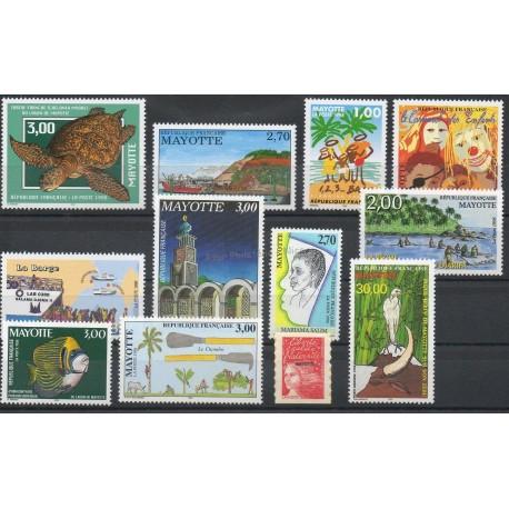 Mayotte - Année complète - 1998 - No 52/61A et PA3