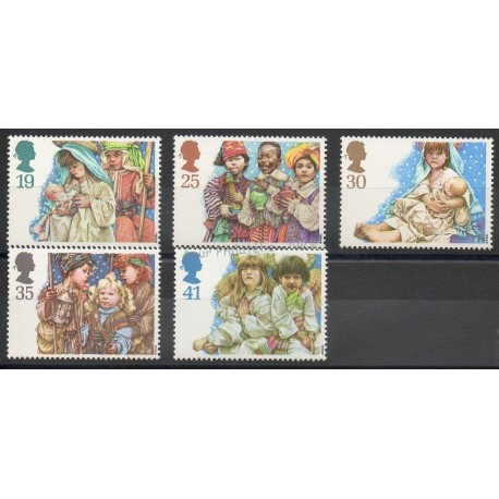 Grande-Bretagne - 1994 - No 1784/1788 - Noël