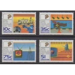 Singapore - 1988 - Nb 532/535 - Telecommunications