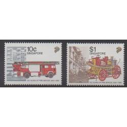 Singapour - 1988 - No 542/543 - Pompiers
