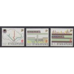 Singapour - 1988 - No 529/531 - Chemins de fer