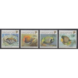 Singapore - 1989 - Nb 558/561 - Sea animals