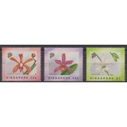 Singapour - 1991 - No 612/614 - Orchidées