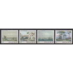 Singapour - 1990 - No 569/572 - Peinture