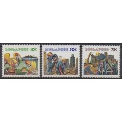 Singapour - 1977 - No 275/277 - Artisanat ou métiers