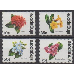 Singapore - 1980 - Nb 361/364 - Flowers