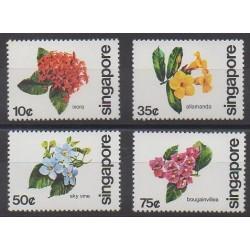 Singapour - 1980 - No 361/364 - Fleurs