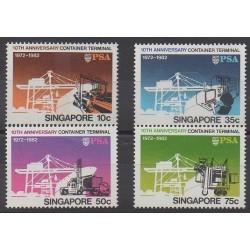 Singapore - 1982 - Nb 398/401 - Boats