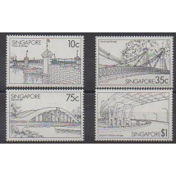 Singapour - 1985 - No 451/454 - Ponts