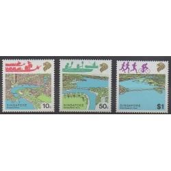 Singapour - 1987 - No 519/521 - Sites