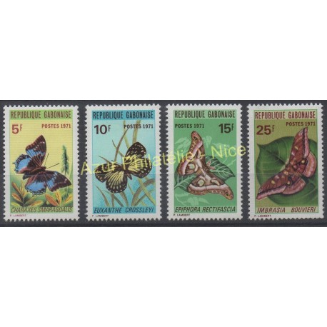Gabon - 1971 - No 271/274 - Papillons