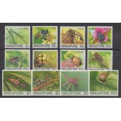 Singapour - 1985 - No 455/466 - Insectes
