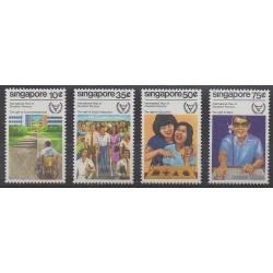 Singapour - 1981 - No 376/379 - Droits de l'Homme