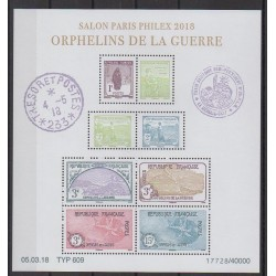 France - Blocks and sheets - 2018 - Nb F5226 - First World War - Philately