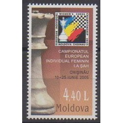 Moldavie - 2005 - No 446 - Échecs