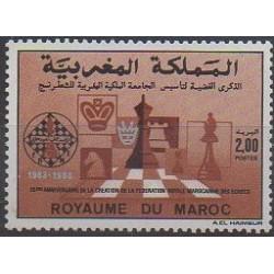 Maroc - 1989 - No 1065 - Échecs