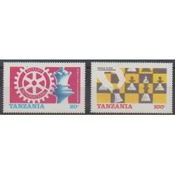 Tanzania - 1986 - Nb 275/276 - Chess