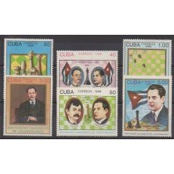 Cuba - 1988 - Nb 2864/2869 - Chess