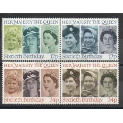 Grande-Bretagne - 1986 - No 1218/1221 - Royauté