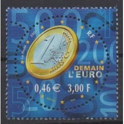 France - Poste - 2001 - Nb 3402 - Coins, Banknotes Or Medals