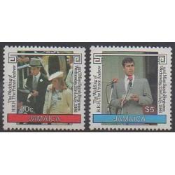 Jamaïque - 1986 - No 649/650 - Royauté - Principauté
