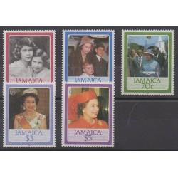 Jamaïque - 1986 - No 640/644 - Royauté - Principauté