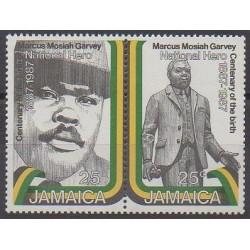 Jamaïque - 1987 - No 689/690 - Célébrités