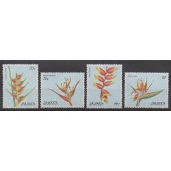 Jamaïque - 1986 - No 655/658 - Fleurs