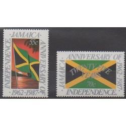 Jamaïque - 1987 - No 687/688 - Histoire - Drapeaux