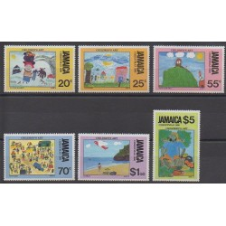 Jamaïque - 1990 - No 764/769 - Dessins d'enfants