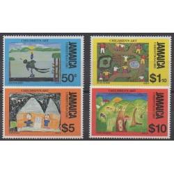 Jamaïque - 1991 - No 796/799 - Dessins d'enfants