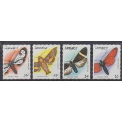 Jamaïque - 1990 - No 754/757 - Insectes