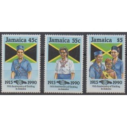 Jamaica - 1990 - Nb 751/753 - Scouts