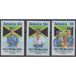 Jamaïque - 1990 - No 751/753 - Scoutisme